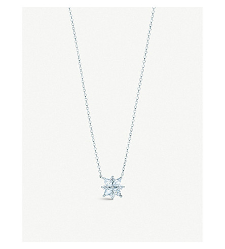 TIFFANY & CO Tiffany Victoria™ cluster pendant in platinum with diamonds