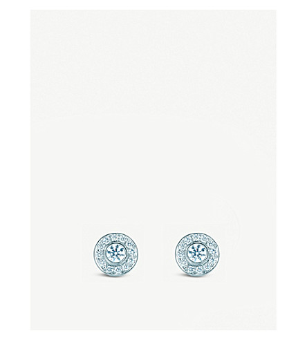 TIFFANY & CO Tiffany Circlet earrings with diamonds in platinum, mini