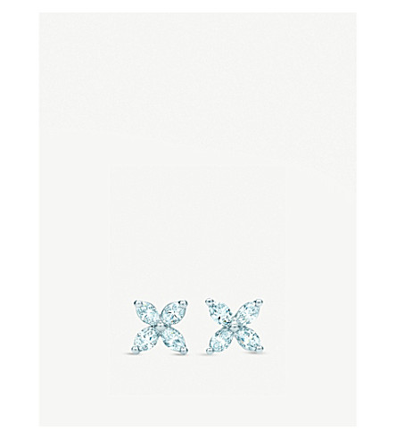 TIFFANY & CO Victoria earrings with diamonds in platinum, mini