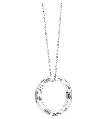 TIFFANY & CO Tiffany 1837 circle pendant in sterling silver