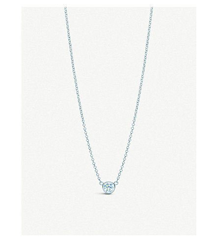 TIFFANY & CO Elsa Peretti® Diamonds by the Yard® pendant in platinum