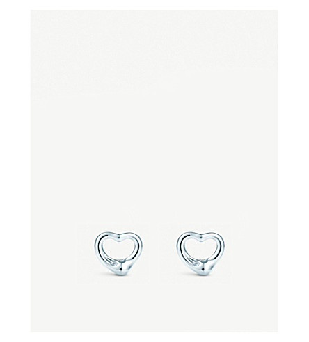 TIFFANY & CO Elsa Peretti® Open Heart earrings in sterling silver