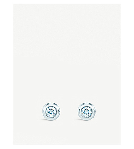 TIFFANY & CO Elsa Peretti® Diamonds by the Yard® earrings in sterling silver