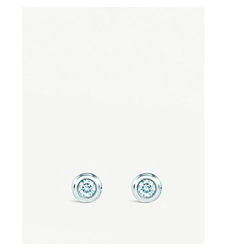 蒂芙尼 & CO 埃尔莎 Peretti®钻石由 Yard®耳环在纯银