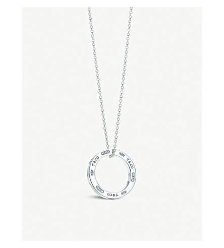 TIFFANY & CO Tiffany 1837™ circle pendant in sterling silver, medium