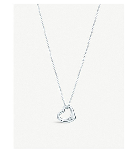 Tiffany co elsa peretti open heart pendant in sterling silver previousnext aloadofball Images