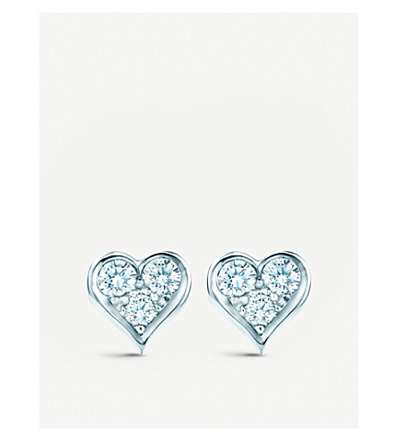 TIFFANY & CO Tiffany Hearts™ earrings with diamonds in platinum