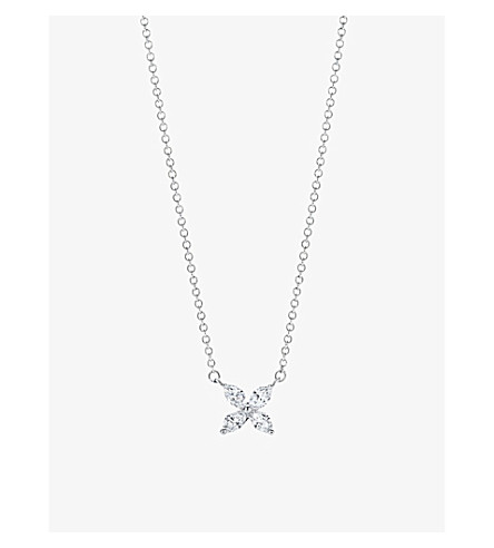 TIFFANY & CO Tiffany Victoria pendant in platinum with diamonds, medium