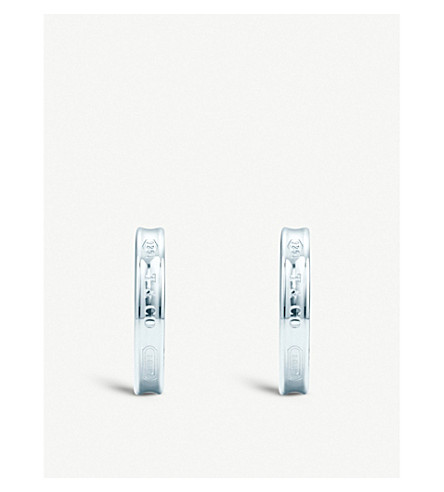 TIFFANY & CO Tiffany 1837™ hoop earrings in sterling silver, small