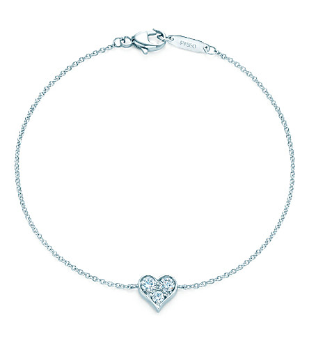 TIFFANY & CO Tiffany Hearts™ bracelet in platinum with diamonds