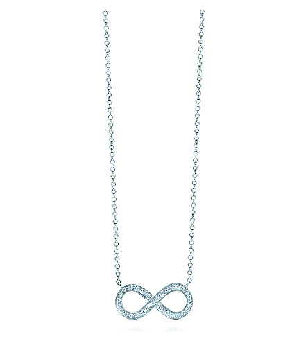 Tiffany co tiffany infinity pendant in platinum with diamonds previousnext aloadofball Images
