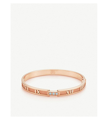 TIFFANY & CO Atlas® hinged bangle in 18k rose gold with diamonds