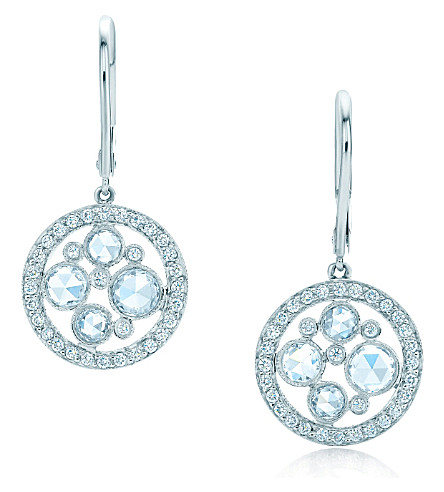 TIFFANY & CO Tiffany Cobblestone earrings in platinum with diamonds