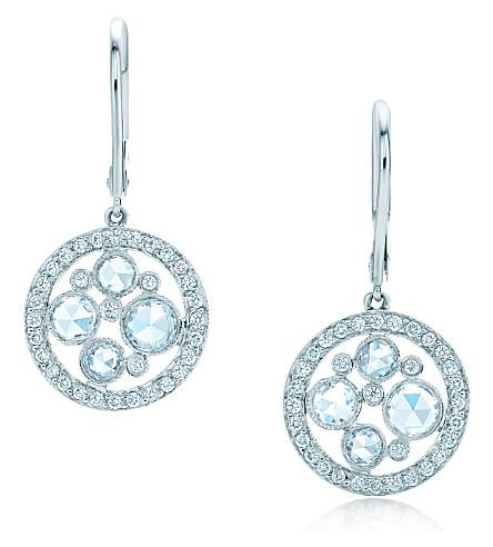 TIFFANY & CO Tiffany Cobblestone earrings in platinum with diamonds