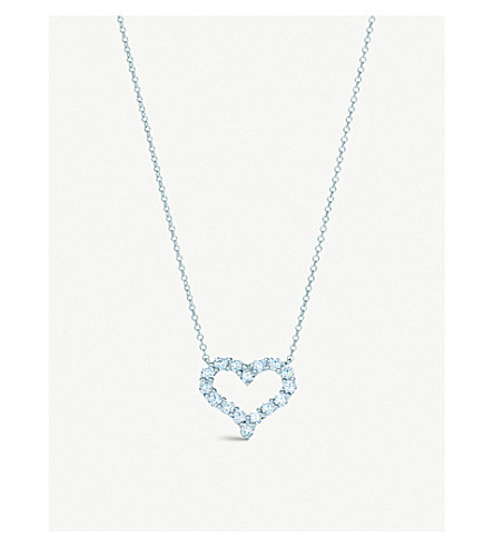 TIFFANY & CO Tiffany Hearts pendant with diamonds in platinum