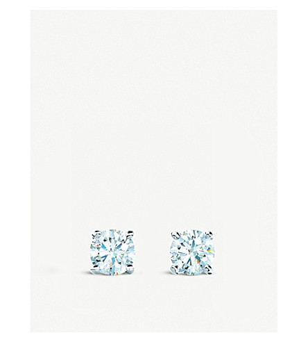 TIFFANY & CO Tiffany solitaire diamond earrings in platinum