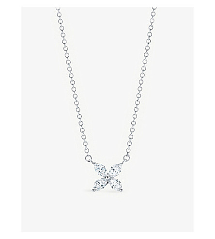 TIFFANY & CO Tiffany Victoria™ pendant in platinum with diamonds, small