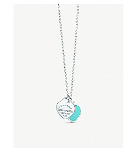 TIFFANY & CO Return to Tiffany Double Heart Tag Pendant in sterling silver, mini