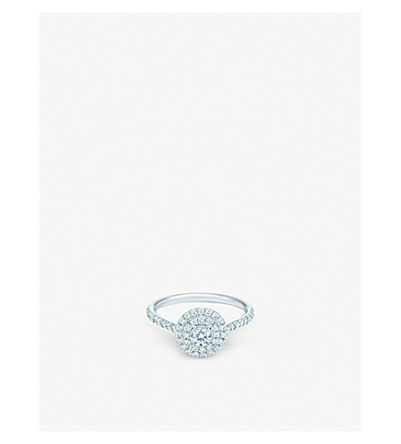 TIFFANY 和 CO Soleste 环铂金圆宝石