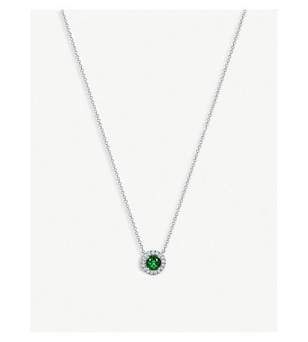 TIFFANY & CO Soleste platinum, diamond and emerald necklace (Silver