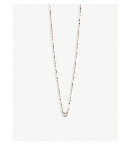 TIFFANY 和 CO Soleste 18ct 玫瑰金钻石项链 (玫瑰 + 黄金
