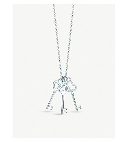 TIFFANY & CO Tiffany Keys mini three-key pendant in sterling silver
