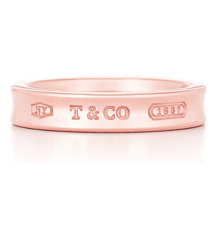 TIFFANY & CO Tiffany 1837 narrow ring in RUBEDO metal