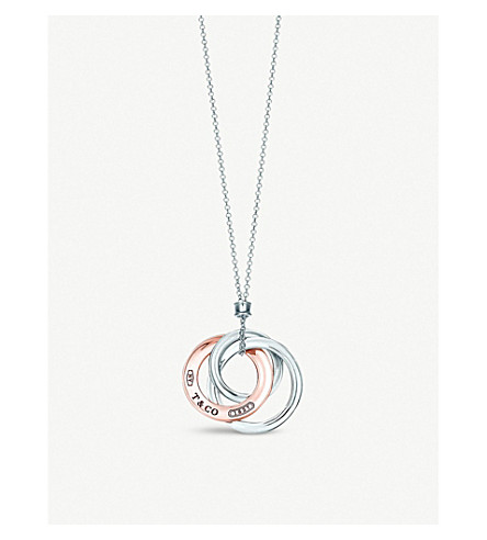 TIFFANY & CO Tiffany 1837 interlocking circles pendant in Rubedo® metal