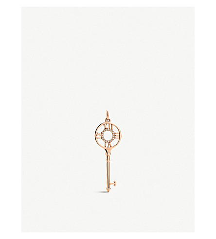 TIFFANY & CO Tiffany Keys Atlas® key pendant in 18k rose gold with diamonds
