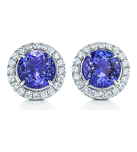 TIFFANY & CO Tiffany Soleste earrings in platinum with tanzanites and diamonds