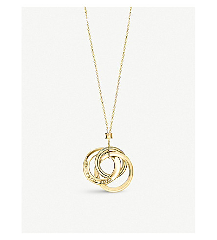 TIFFANY & CO Tiffany 1837 interlocking circles pendant in 18k gold