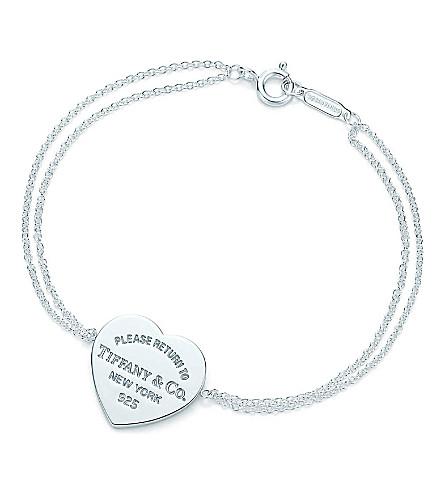 蒂芙尼 & CO 回到蒂芙妮的心脏标记手镯在纯银