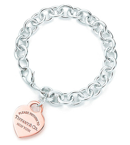 TIFFANY & CO Return to Tiffany™ heart tag bracelet in RUBEDO® metal and silver