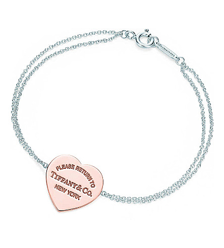 TIFFANY & CO Return to Tiffany™ heart bracelet in RUBEDO® metal and sterling silver