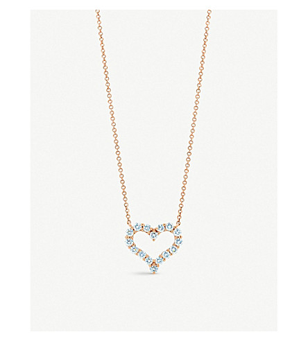 TIFFANY & CO Tiffany Hearts™ pendant in 18k rose gold with diamonds