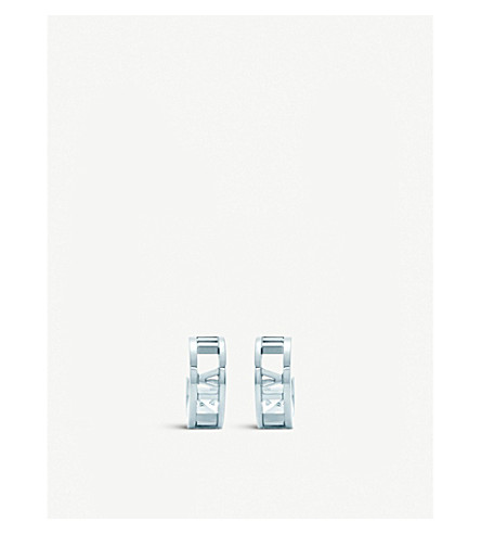 TIFFANY & CO Atlas® hoop earrings in sterling silver, mini