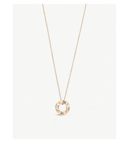 TIFFANY & CO Atlas® pierced pendant in 18k rose gold with diamonds, small