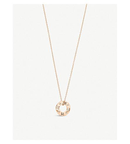TIFFANY & CO Atlas® pierced pendant in 18k rose gold with diamonds, small