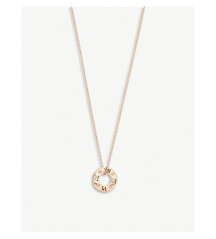 蒂芙尼 & CO Atlas®穿孔环在18k 玫瑰金与钻石