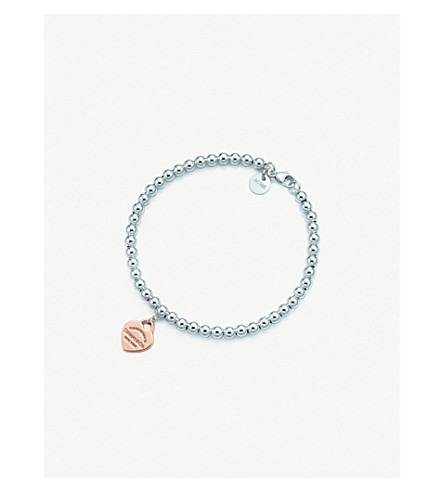 Gb En Cat Tiffany Co Return To Tiffany 25e2 2584 25a2 Bead Bracelet In Silver And Rubedo 25e2 2584 25a2 Metal 661 10160 67290 Tiffany Bracelets Uk