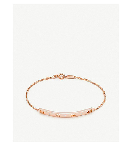 TIFFANY & CO Atlas® pierced bracelet in 18k rose gold with diamonds
