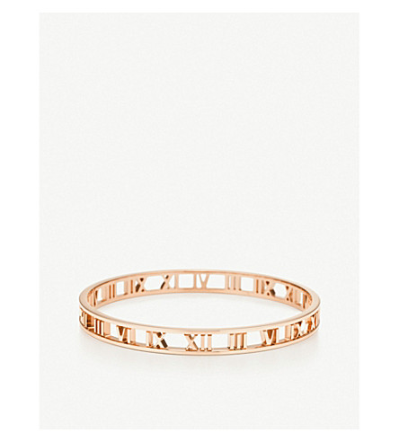 TIFFANY & CO Atlas® narrow open bangle in 18k rose gold
