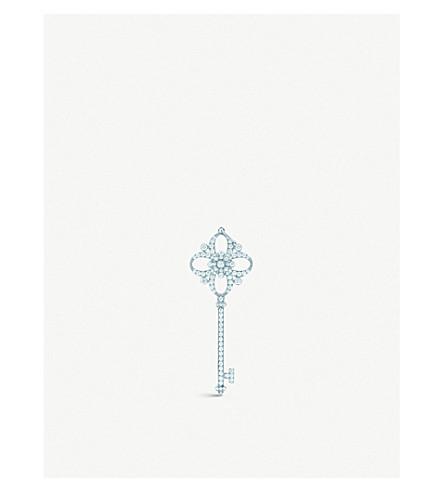 蒂芙尼 & CO 蒂芙尼钥匙小花钥匙吊坠铂金与钻石