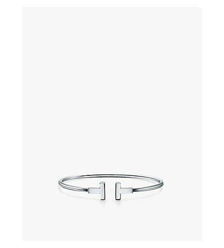 TIFFANY & CO Tiffany T wire bracelet in 18k white gold