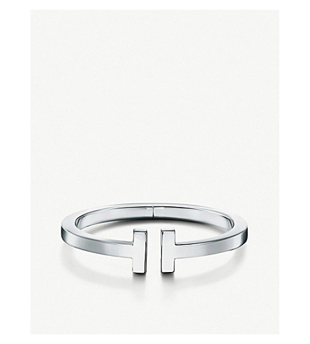 TIFFANY & CO Tiffany T square bracelet in sterling silver