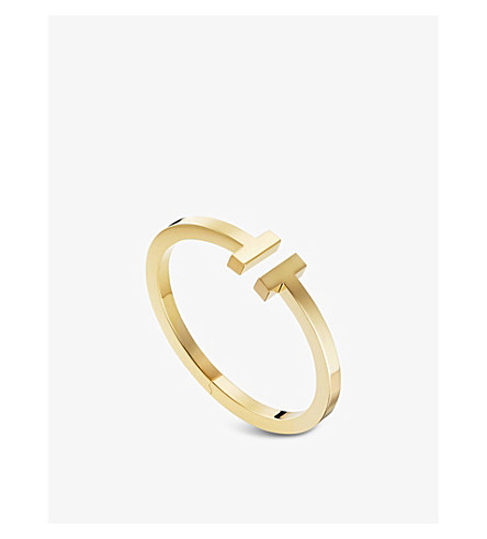 TIFFANY & CO Tiffany T square bracelet in 18k gold