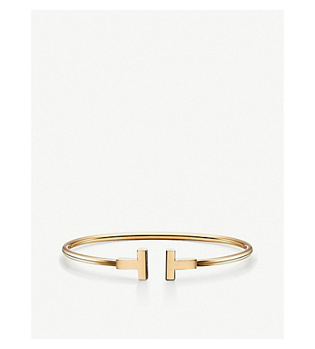 TIFFANY & CO Tiffany T wire bracelet in 18k gold