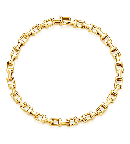 TIFFANY & CO Tiffany T narrow chain bracelet in 18k gold