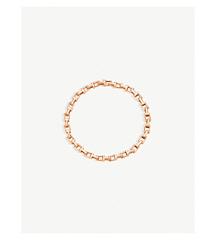 TIFFANY & CO Tiffany T narrow chain bracelet in 18k rose gold, medium
