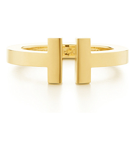 TIFFANY & CO Tiffany T square ring in 18k yellow-gold